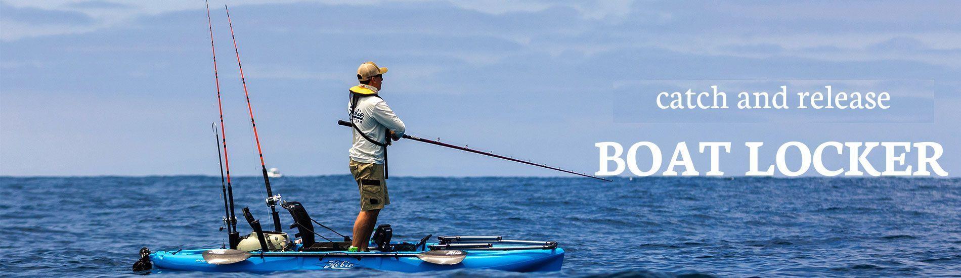 Fishing kayaks at boatlocker